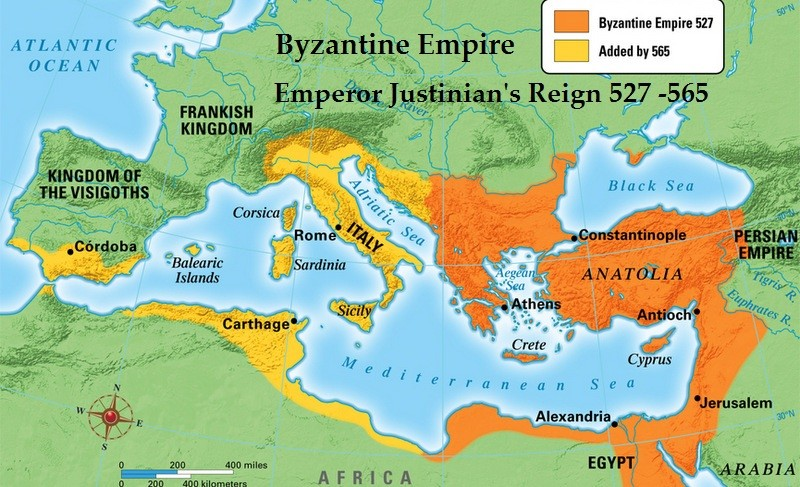 map of Byzantine Empire