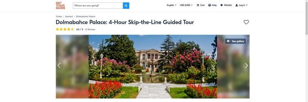 Dolmabahce Palace online tickets in advance