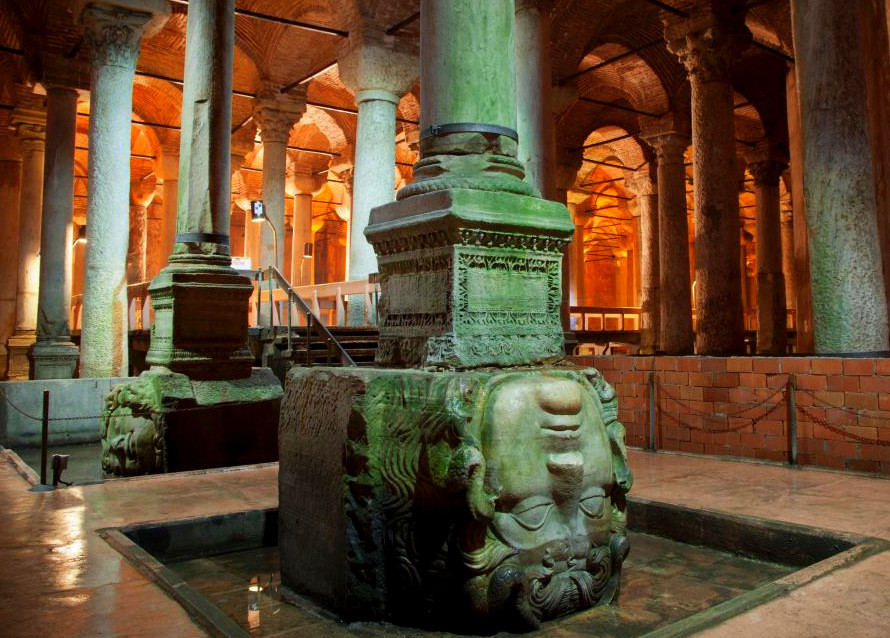 Medusa Heads in Istanbul Cistern